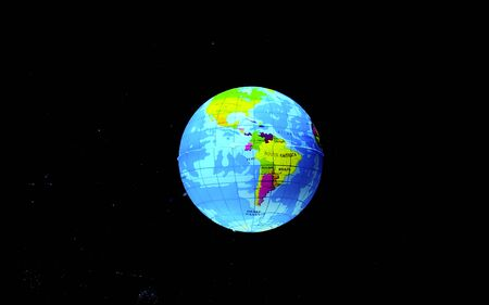 Blue planet earth from space. Ecology and the environment. Save the planet. Ecological catastrophy. Depletion of the Earth. Фото со стока