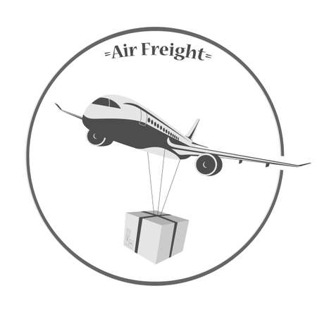 front loading: icon air freight on a white background Illustration