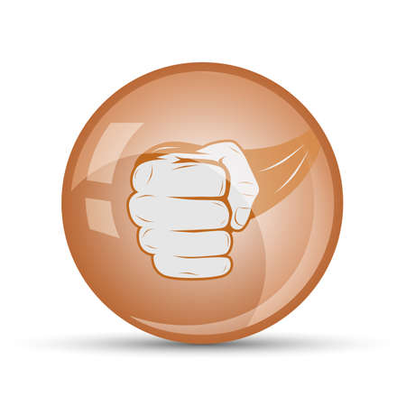 close fist: fist icon to close sports on a white background