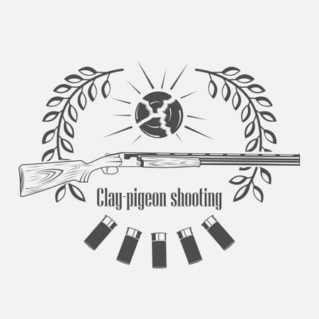 vintage clay target and gun club labels