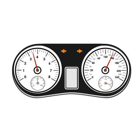 Automotive icons theme on a white background