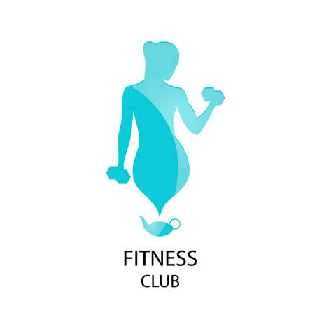icon fitness club sport style - vector illustration