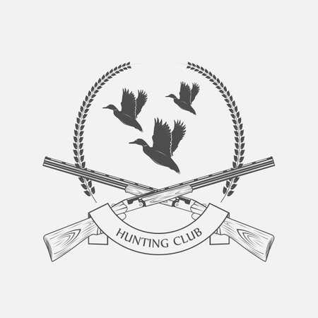 duck hunting with shotguns icon - vector illustration 矢量图像