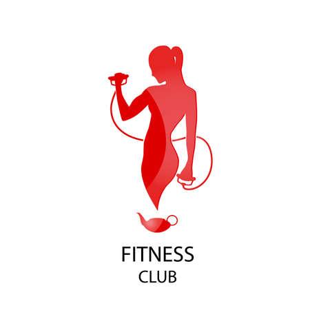 female symbol: icon fitness club sport style vector illustration Illustration