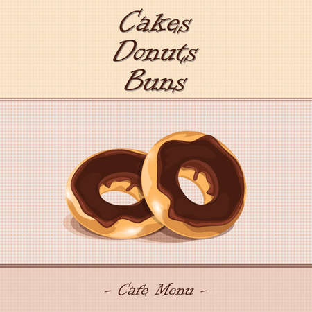 buns: donuts, cakes, buns in the cafe menu