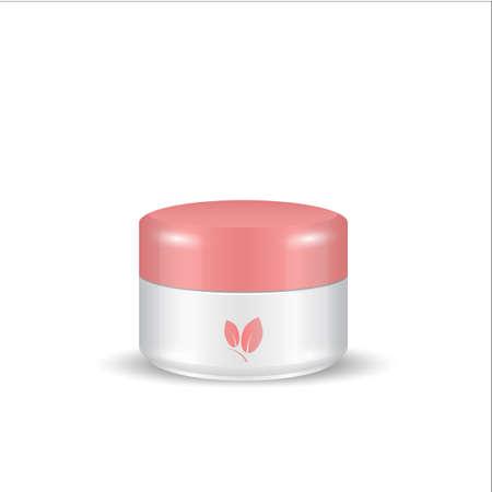 woman face cream: Cream, Gel Or Powder, Light red White, Jar Can Cap Bottle