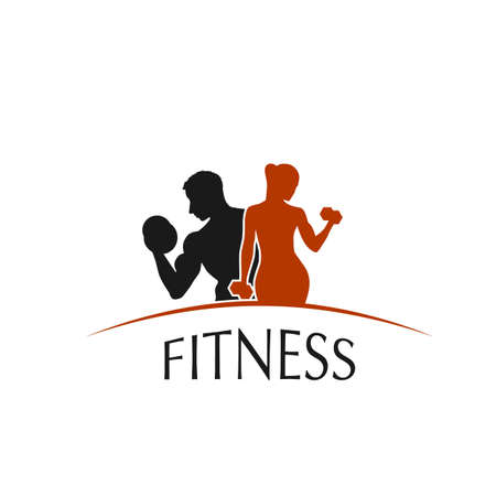 fitness club icon sport style - vector illustration