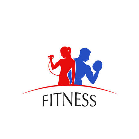 fitness center: Fitness Center , label, icon - vector illustration Illustration