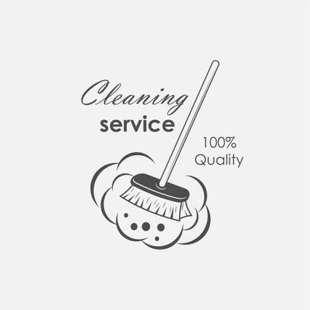 servicio de limpieza, emblemas, etiquetas y elementos de diseño Ilustración de vector