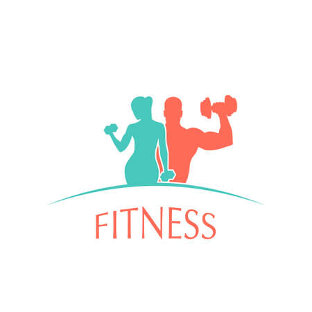 Logo Fitnessclub Sport Stil Vektor-Illustration
