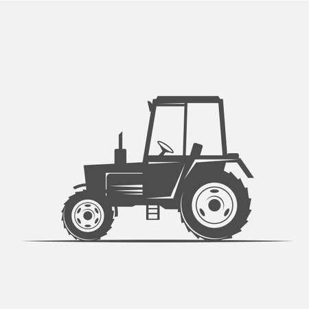tractor image in vintage style, and the bar - vector illustration