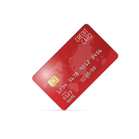 residue: Realistic vector credit card. Business and finance Illustration