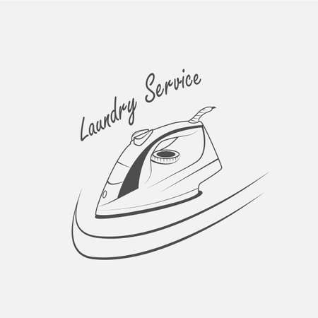 smoothing: laundry service, electric iron vector icon - vector Illustration