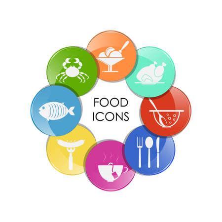 food and drink set of icon, design - vector illustration Illustration