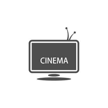 theatrical performance: Cinematic theme. Vector illustration of TV screen