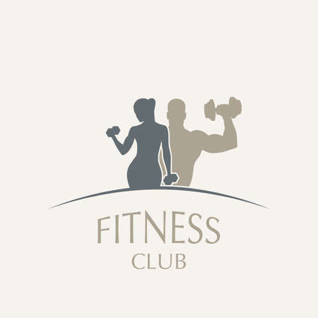 Weightlifting and fitness  イラスト・ベクター素材