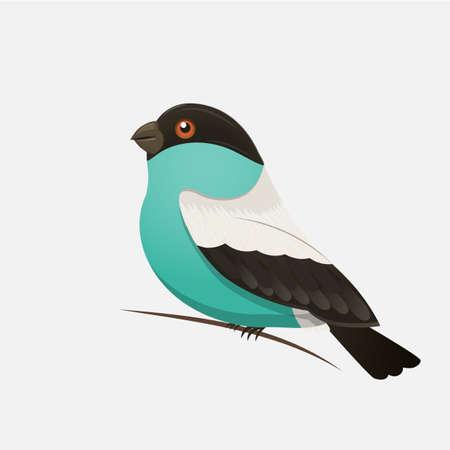 Vector kleur afbeelding van een vogel, vogel ontwerp icoon