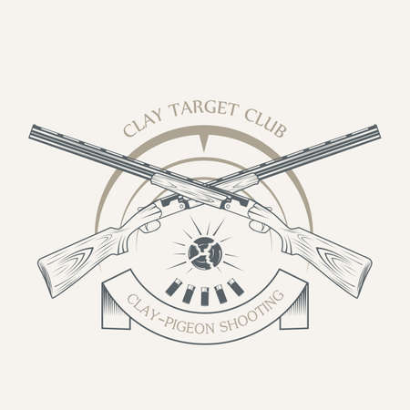 Vintage clay target and gun club labels.