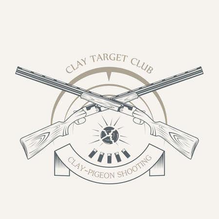 Vintage clay target and gun club labels.