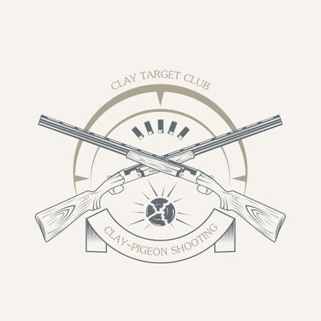 vintage clay target and gun club labels