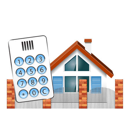 interphone: Security alarm for the house Illustration