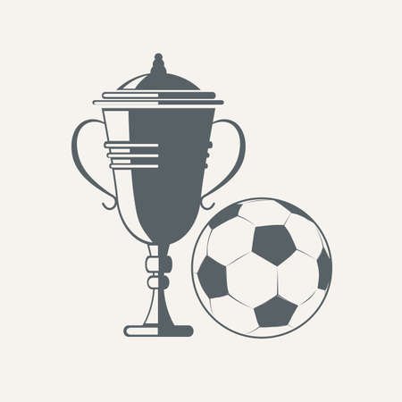 futbol soccer: Soccer cup and ball