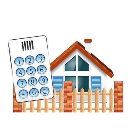 Security alarm for the house. Intercom, doorphone, and at house