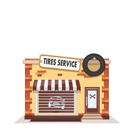 tire cover: Tire wheel service Illustration