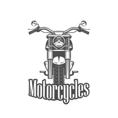 racing: Chopper motorcycle front side isolated