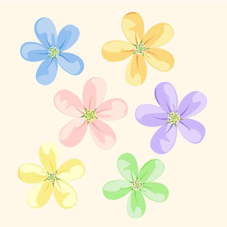 Set flower icons