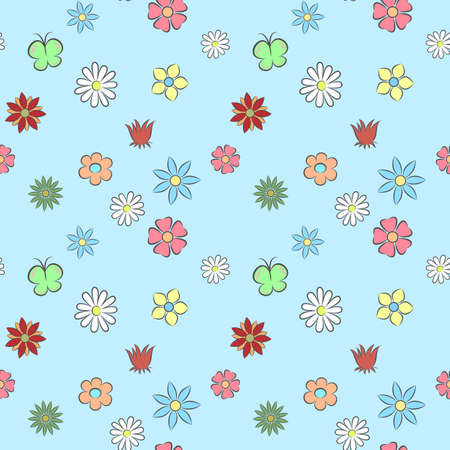 Seamless pattern flower Illustration