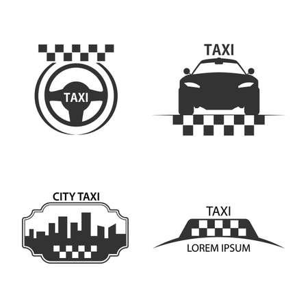 checker: taxi logo vector