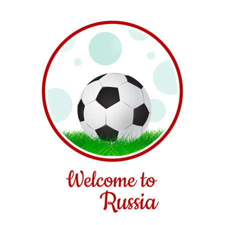 soccer ball on grass, graphic design set of banners with modern abstractions and patterns on the background. Vettoriali