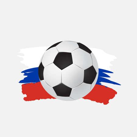 Illustrazione vettoriale, logo Coppa calcio sul calcio. set di design grafico di banner con astrazioni moderne e modelli sullo sfondo. palla realistica di vettore isolato Archivio Fotografico - 99247301