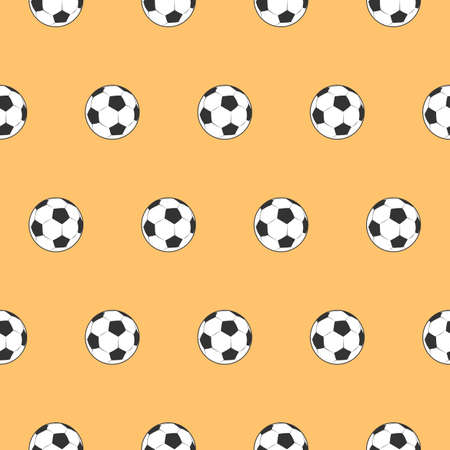 seamless pattern soccer ball and football themes -