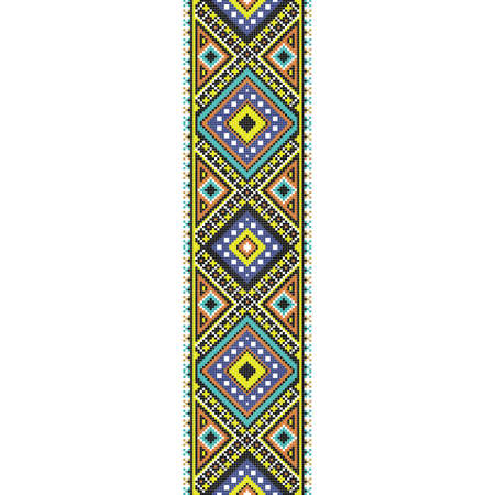 traditional folk art knitted embroidery seamless pattern. Vettoriali