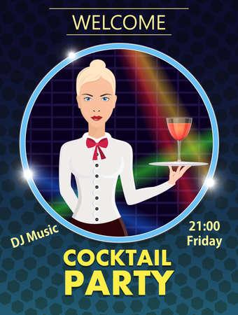 Vector flyer design template Cocktail Party Archivio Fotografico - 104225618