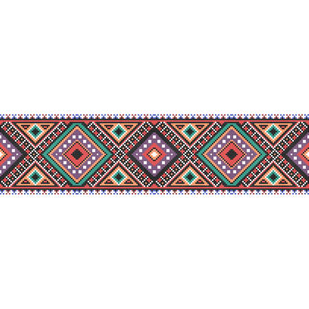traditional folk art knitted embroidery seamless pattern