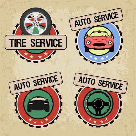 set of Car service - vector illustration.