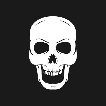 skull on a pirate flag. Hand drawn skulls