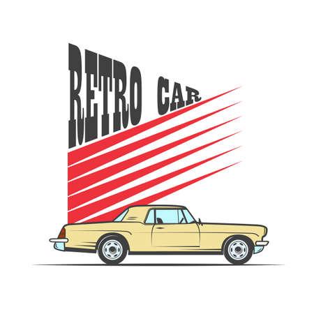 retro car in vintage style - vector illustration Archivio Fotografico - 105476486
