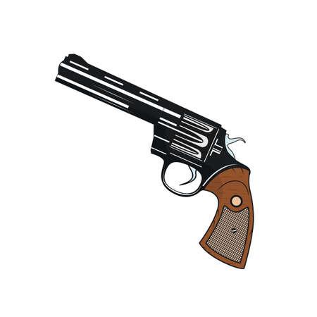 pistol, revolver - vector illustration 免版税图像