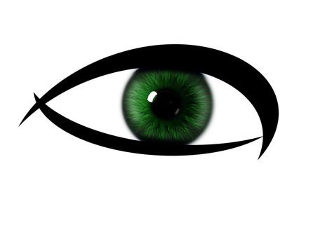 dilated pupils: Rainbow eye on a white background. Colour pattern rainbow eye. eye iris textures Stock Photo