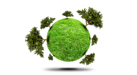 protect the environment concept - earth with a tree , Planet With Tree photo