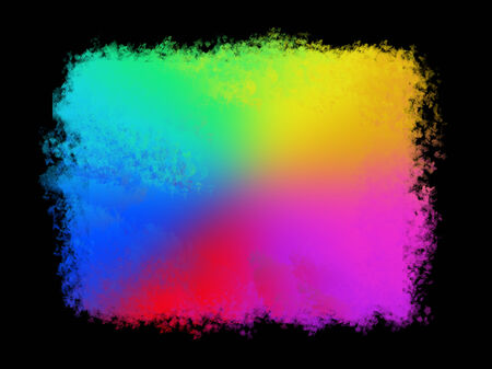 Abstract colored background, colored spots on a black background photo