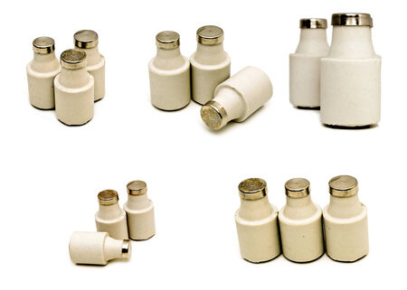 Several electrical fuses isolated on a white background photo