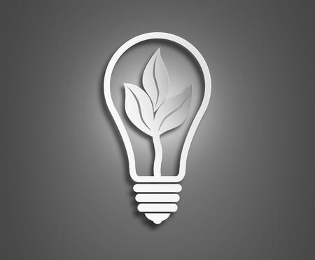 energy sources: The concept of a light bulb ekologiya.Izobrazhenie background.Concept use of natural energy sources