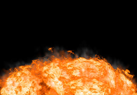 Abstract fire on black background Stock Photo