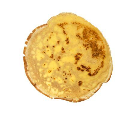 pete: Wheat round tortillas on white background. One pita isolated