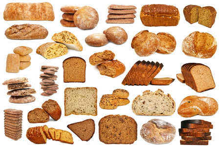 slices of bread: Set of bread isolated